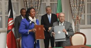 Algerian PM Sellal and Kenya's Amina mohamed