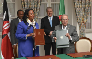 Algerian PM Sellal and Kenya's Amina mohamed