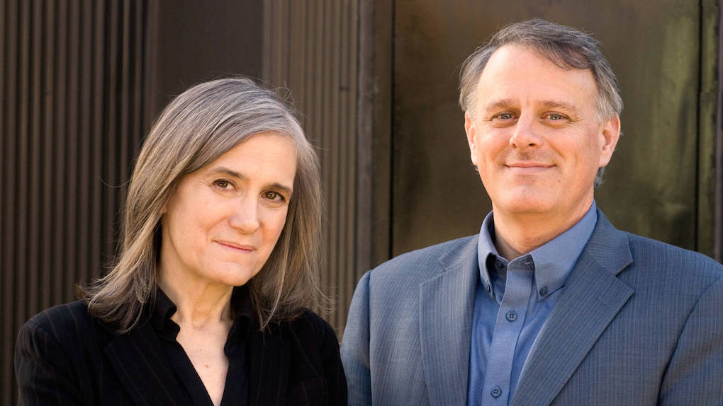 Amy Goodman and Denis Moynihan, co-authors of the podcast report