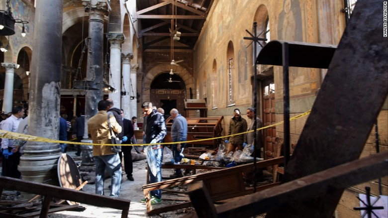 Bomb Blast at Cairo Cathedral Kills at least 25 People