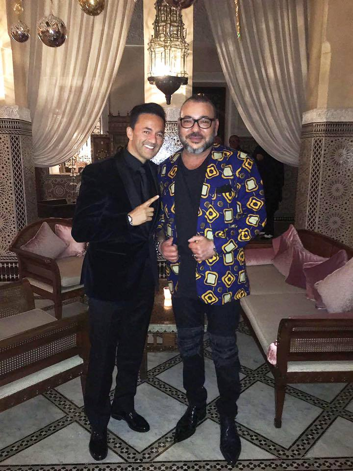 King Mohammed VI's Jacket in a Photo with RedOne Goes Viral on Social Media