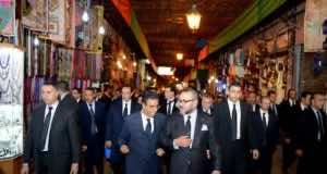 King Mohammed VI Visits Restored Historical Sites in El Mellah Neighborhood in Marrakech