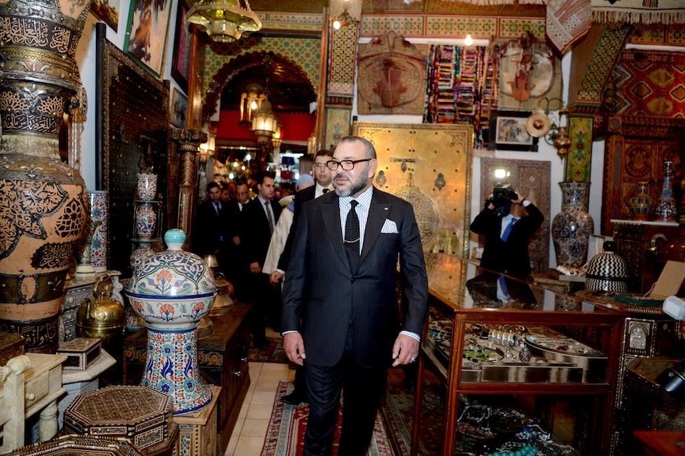 King Mohammed VI Visits Restored Historical Sites in El Mellah Neighborhood in Marrakech
