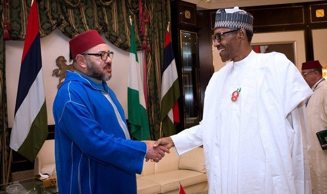 king Mohammed VI in Nigeria