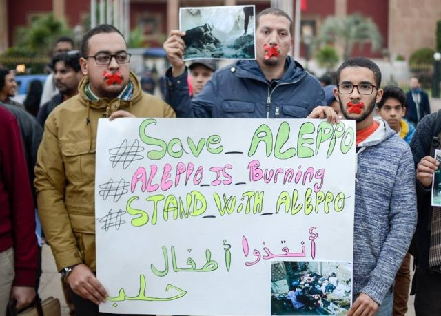 Moroccans Stand in Solidarity with Syrian People