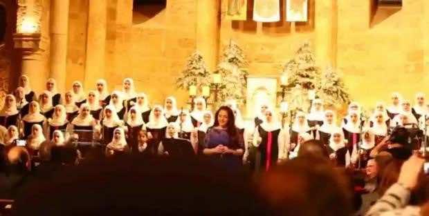 Muslim Girls' Choir in Beirut, Sings Christmas Carols During Mass