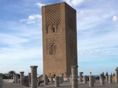 The Hassan Tower, built in 1195, Rabat. Photo by Robin Zefzaf