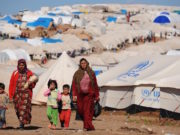 The UNHCR refugee camp. Photo: BULENT KILIC/AFP/Getty Images