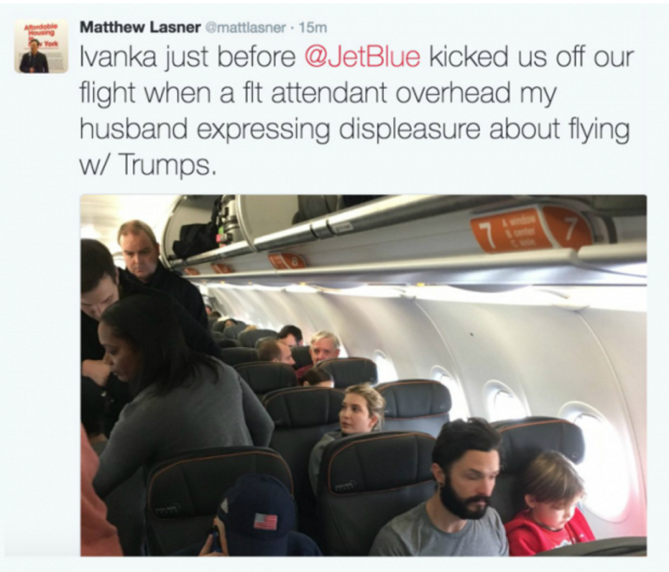 Two Passengers Removed FromJetBlue Flight for Allegedly Accosting Ivanka Trump