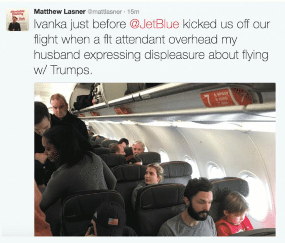 news world passenger removed from flight after criticising ivanka trump