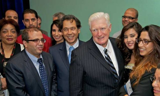 Mohamed Hajjam (L) with Congressman Jim Moran during the first Anuual CEO Summit 2013 in Washington DC