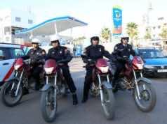 Moroccan police in Casablanca