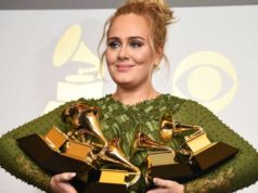 Adele Tops with 5 Grammys Awards