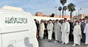 Crown Prince Moulay El Hassan, Prince Moulay Rachid in Boucetta's Funeral