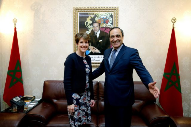 El Habib El Malki with British ambassador to Morocco, Karen Betts