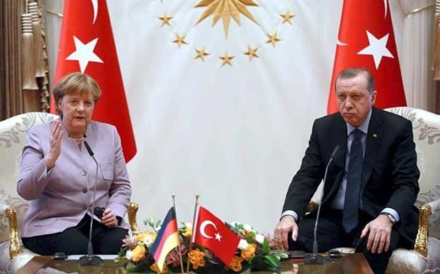 Erdogan Warns Merkel Against Using 'Islamic Terrorism'