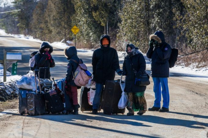Illegal Foot Migration from US to canada