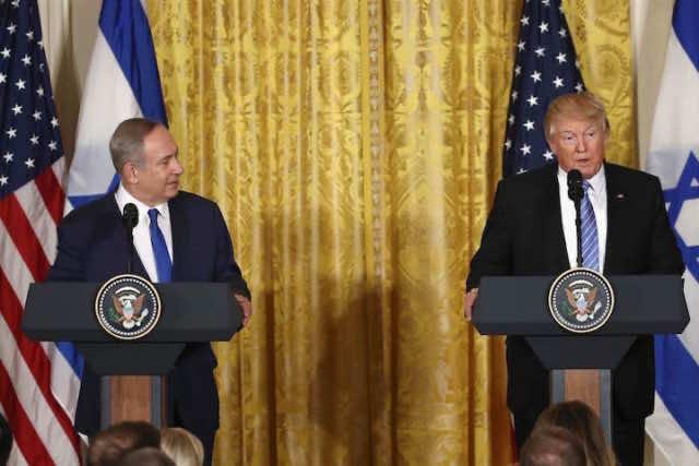 Israeli Prime Minister Benjamin Netanyahu and US President Donald Trump