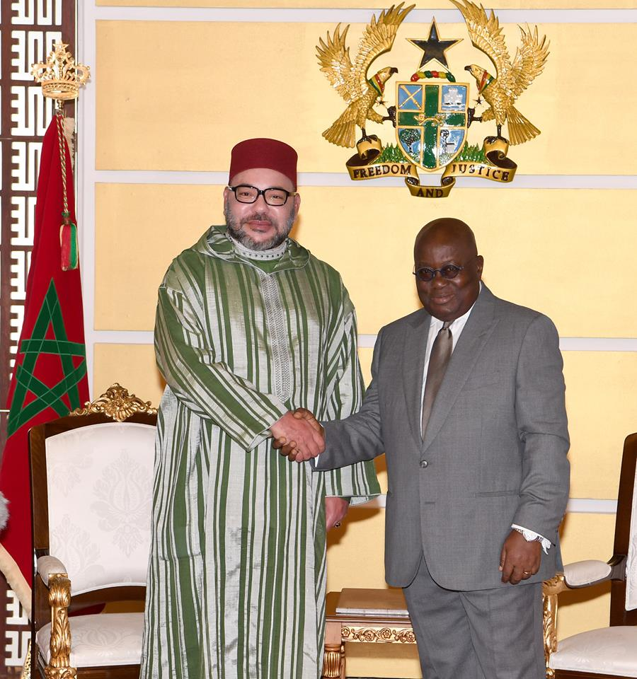 King Mohammed VI Holds Private Meeting with President of Republic of Ghana