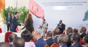 King Mohammed VI Ivorian Pres. Chair Ceremony on Côte d'Ivoire-Morocco Economic Impetus Group's Work