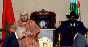 King Mohammed VI, South Sudanese Pres. Chair Signing Ceremony of Nine Bilateral Agreements