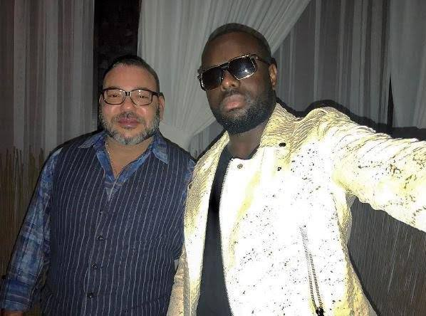 King Mohammed VI with Maitre Gims