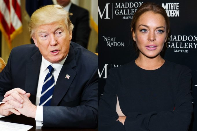 Lindsay Lohan Urges Support for Donald Trump