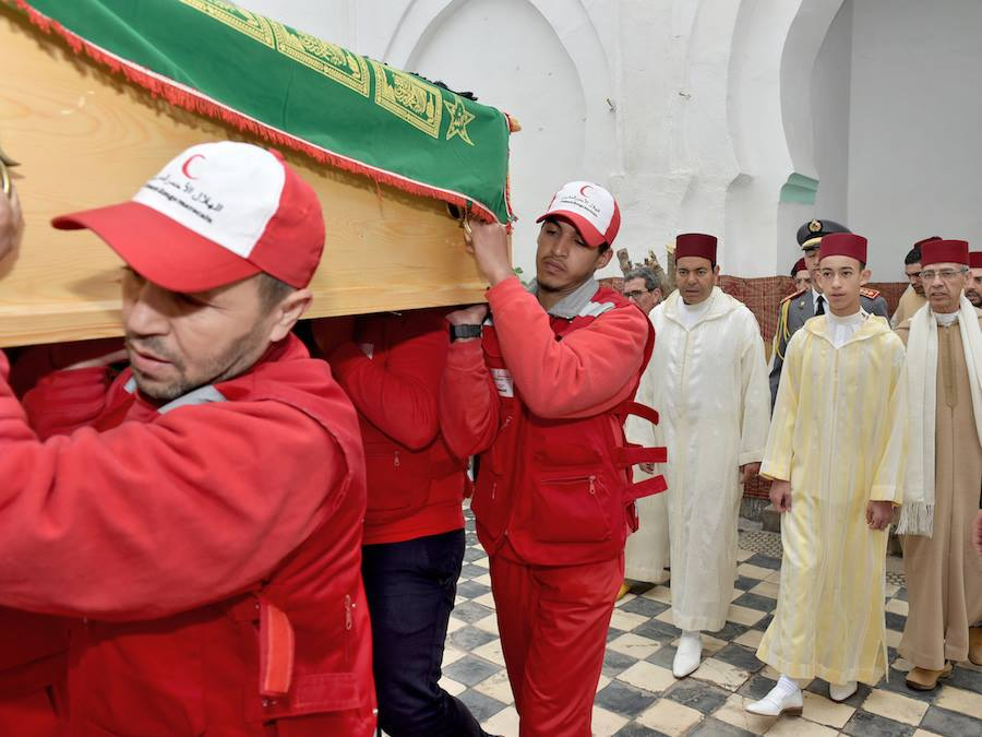 Moulay El Hassan and Moulay Rachid Attends M'hamed Boucetta's Funeral.