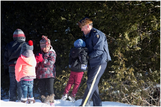 Royal Canadian Mounted Police Help Refugee Family Cross Border into Canada