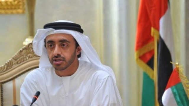 United Arab Emirates' Foreign Minister, Sheikh Abdullah bin Zayed al-Nahyane