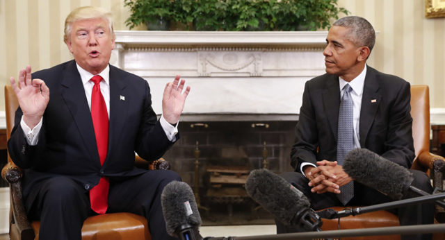 Trump Blames Obama for White House Leaks to Media