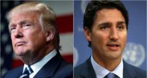 U.S. President Donald Trump and Prime Minister Justin Trudeau