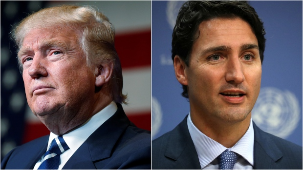 U.S. President Donald Trump and Prime Minister Justin Trudeau