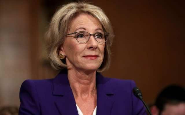 US Education Secretary Betsy DeVos