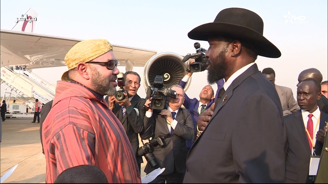 King Mohammed VI Arrives in Juba for Official Visit to Republic of South Sudan