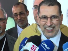 Othmani Speaks to the Press in Tamazight