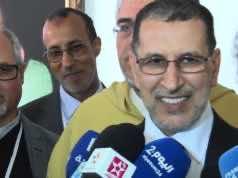 Othmani Speaks to the Press in Tamazight