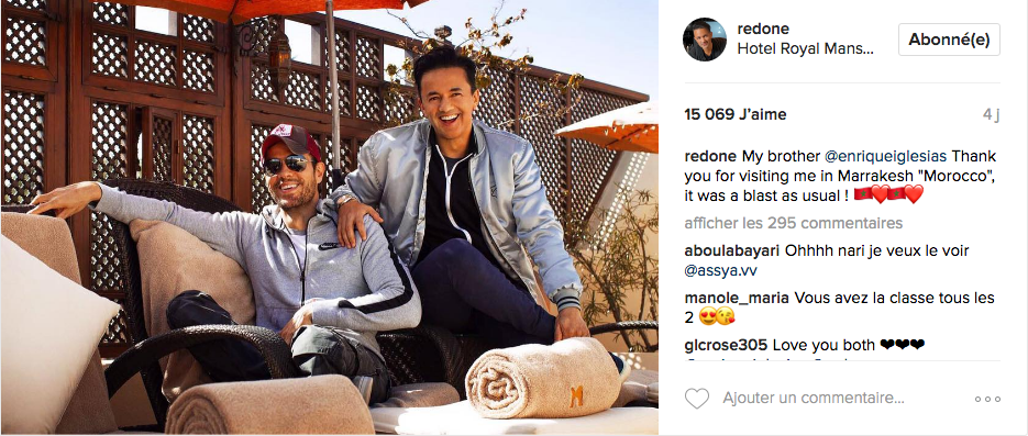 Enrique Iglesias and RedOne in Marrakech