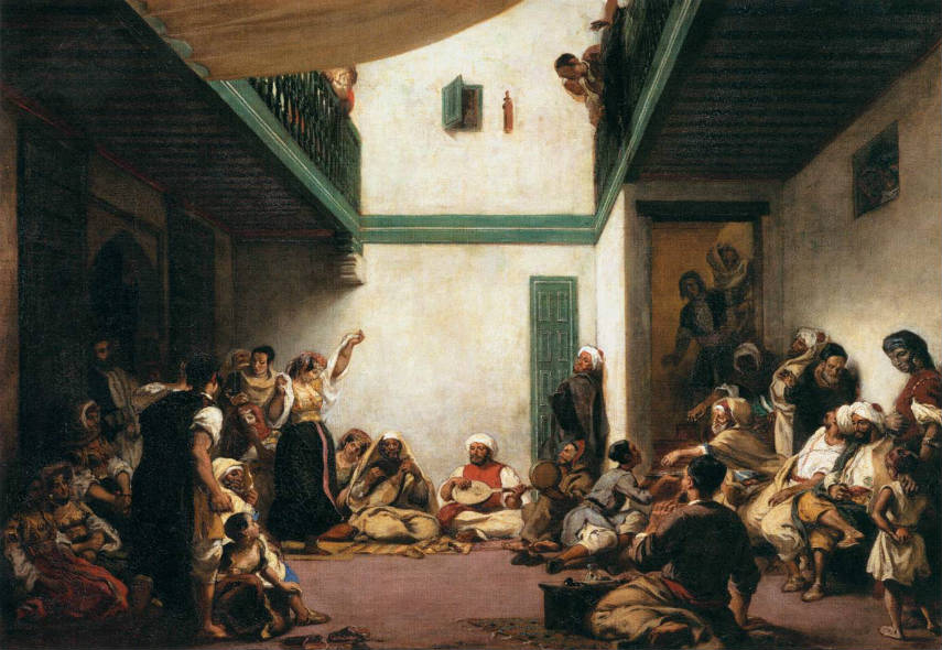 Eugène-Delacroix-A-Jewish-Wedding-in-Morocco-1841-Image-via-commonswikimediaorg