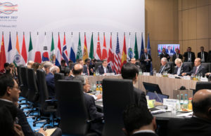 Foreign Minister Sigmar Gabriel opens the G20 meeting in Bonn