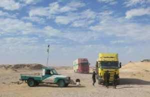 Guerguerat New Photo Shows Polisario MilitiasHarass Moroccan Drivers