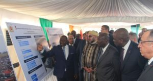 King, Ivorian President Launch Construction Works of 'Mohammed VI' Mosque in Abidjan