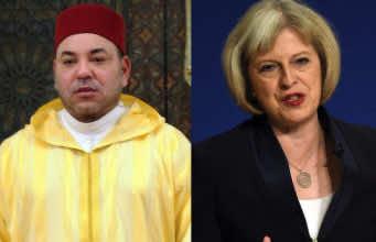 King Mohammed VI, British Prime Minister Theresa May