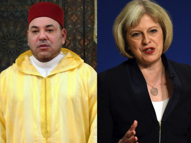 King Mohammed VI, British Prime Minister Theresa May