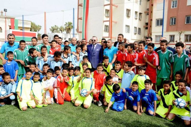 King Mohammed VI Inaugurates Community-Based Sports Field in Casablanca