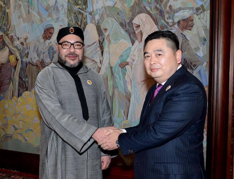 king mohammed VI and President of the Chinese industrial group Haite Li Biao