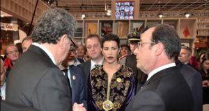 Princess Lalla Meryem, French Pres. Inaugurate Moroccan Pavilion at Paris Book Fair
