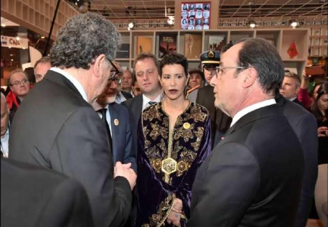 Princess Lalla Meryem, French Pres. Inaugurate Moroccan Pavilion at Paris Book Fair