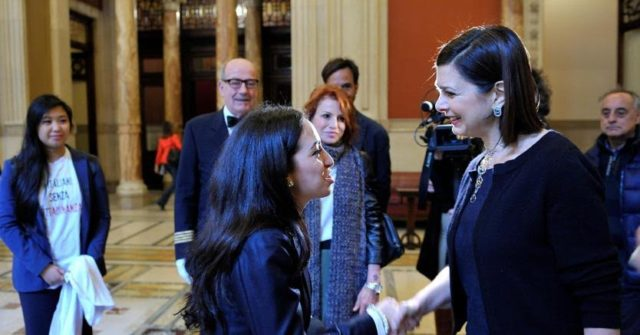 Speaker of Italy's Parliament Receives Moroccan Student