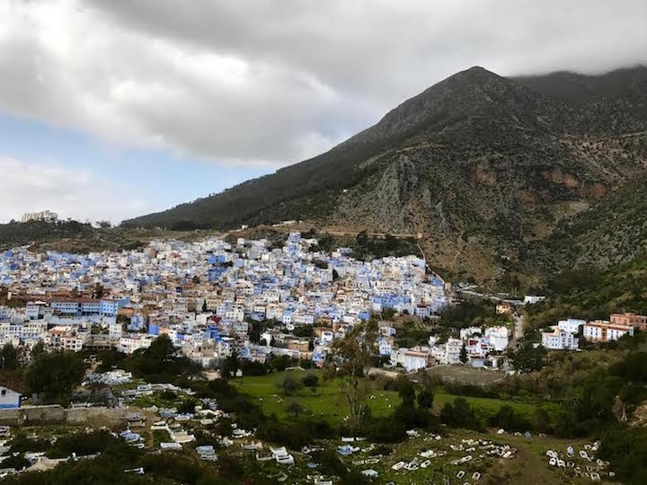 The view from the Spanish Mosque in Chefchaouen